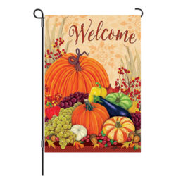 pumpkins and gourds reversible garden flag