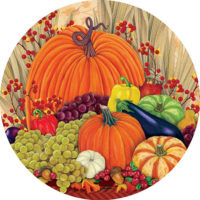 Pumpkins and Gourds Fall Decorative Accent Magnet