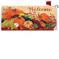 Pumpkins and Gourds Fall Decorative Mailbox Makeover