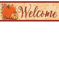 Pumpkins and Gourds Fall Decorative Signature Sign