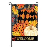 Painted Pumpkins Fall Reversible Decorative Garden Flag