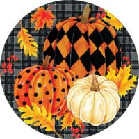 Painted Pumpkins Fall Decorative Accent Magnet