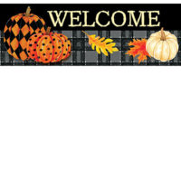 Painted Pumpkins Fall Decorative Signature Sign