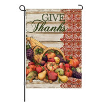 Cornucopia Thanksgiving Reversible Decorative Garden Flag