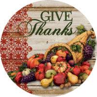 Cornucopia Thanksgiving Decorative Accent Magnet