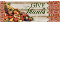 Cornucopia Thanksgiving Decorative Signature Sign