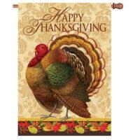 Thanksgiving Turkey Reversible Decorative House Flag
