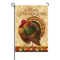Thanksgiving Turkey Reversible Decorative Garden Flag