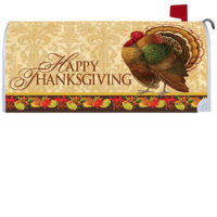 Thanksgiving Turkey Decorative Mailbox Makeover