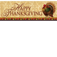 Thanksgiving Turkey Decorative Signature Sign