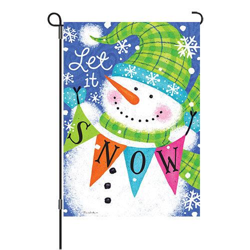 Snow Banner Winter Reversible Decorative Garden Flag