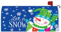 Snow Banner Winter Decorative Mailbox Makeover