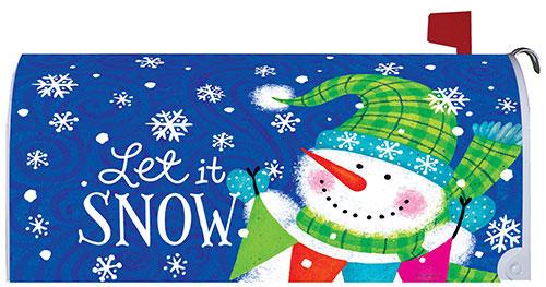 Snow Banner Winter Decorative Mailbox Makeover