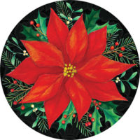 Christmas Poinsettia Decorative Accent Magnet