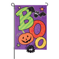 Boo Halloween Decorative Applique Reversible Garden Flag