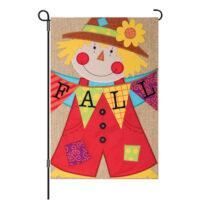 Fall Scarecrow Burlap Reversible Decorative Garden Flag