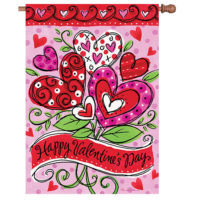 Valentine's Hearts Reversible Decorative House Flag