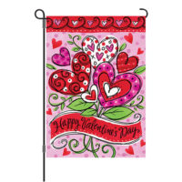 Valentine's Hearts Reversible Decorative Garden Flag