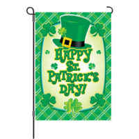 Happy St. Pat's Hat Reversible Decorative Garden Flag