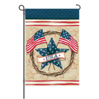 Patriotic Star Reversible Decorative Garden Flag