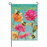 Bumble Bees Garden Reversible Decorative Garden Flag