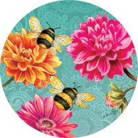 Bumble Bees Garden Decorative Accent Magnet
