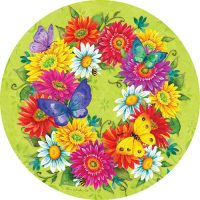 Daisy Wreath Decorative Accent Magnet