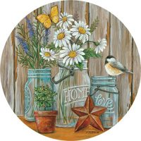 Daisy Jars Decorative Accent Magnet