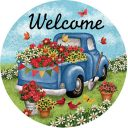 Flower Truck Decorative Accent Magnet