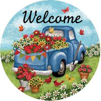 Flower Truck Decorative Accent Magnet