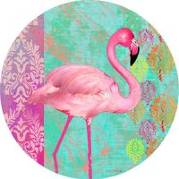 Flamingo Welcome Decorative Accent Magnet