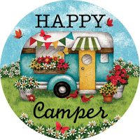 Happy Camper Decorative Accent Magnet