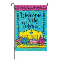 Porch Welcome Reversible Decorative Garden Flag