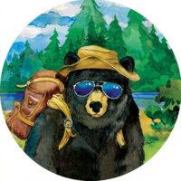 Bear Camper Decorative Accent Magnet