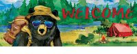 Bear Camper Decorative Signature Sign