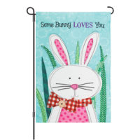 Some Bunny Loves You Easter Decorative Applique Reversible Garden Flag