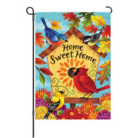 Fall Songbirds Reversible Decorative Garden Flag