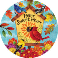 Fall Songbirds Decorative Accent Magnet