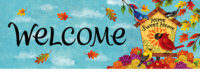 Fall Songbirds Decorative Signature Sign