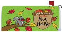 Welcome To The Nut House Fall Decorative Mailbox Makeover