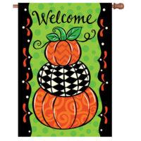 Pumpkin Stack Fall Reversible Decorative House Flag