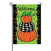 Pumpkin Stack Fall Reversible Decorative Garden Flag