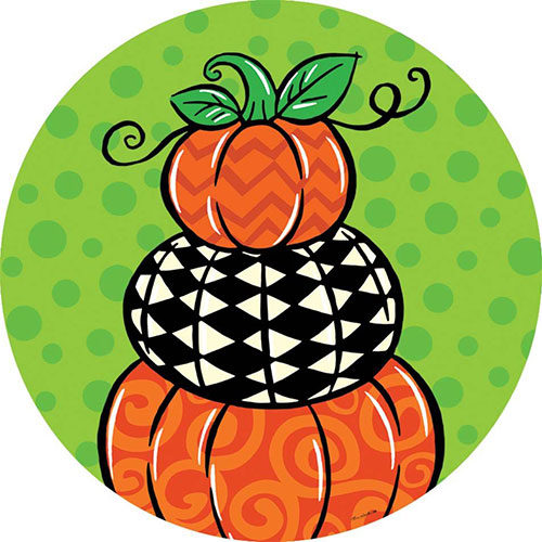 Pumpkin Stack Fall Decorative Accent Magnet