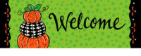 Pumpkin Stack Fall Decorative Signature Sign
