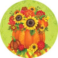 Pumpkin Floral Fall Decorative Accent Magnet