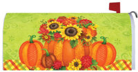 Pumpkin Floral Fall Decorative Mailbox Makeover