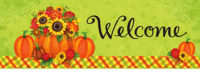 Pumpkin Floral Fall Decorative Signature Sign