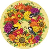 Songbird Wreath Fall Decorative Accent Magnet