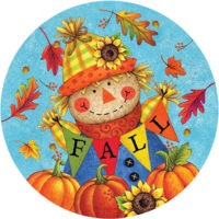 Fall Scarecrow Decorative Accent Magnet