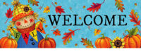 Fall Scarecrow Decorative Signature Sign